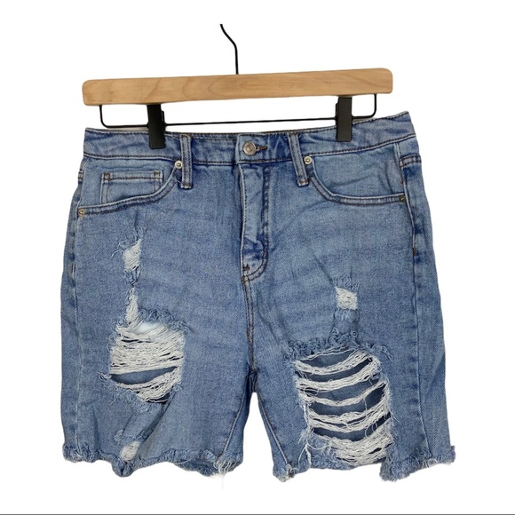 Wild Fable High Rise Distressed Raw Hem Shorts 8